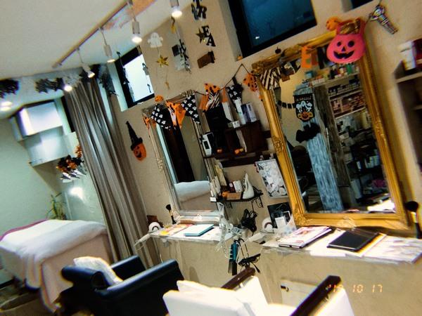 【西新の美容室リエット】HALLOWEENバージョンになりました!!