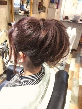 【西新の美容室リエット】女子力UP☆ポニーテールのサムネイル
