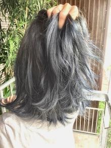 【西新の美容室リエット】最新技術バレイヤージュ☆グレイ×ブルー