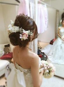 【西新の美容室リエット】新婦さんの結婚式スタイル