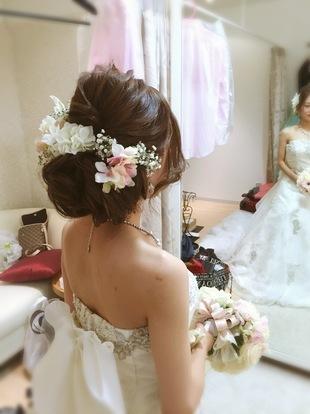 【西新の美容室リエット】新婦さんの結婚式スタイルのサムネイル