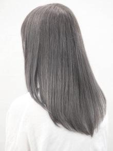 【西新の美容室リエット】透け感×スモーキーアッシュ