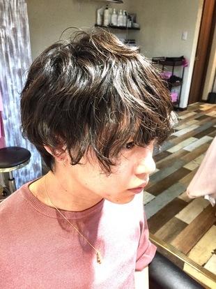 【西新の美容室リエット】ルーズ感パーマ☆メンズのサムネイル