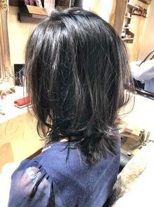 【西新の美容室リエット】暗髪エアリーショート
