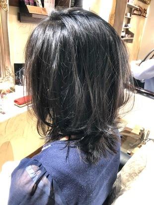 【西新の美容室リエット】暗髪エアリーショートのサムネイル
