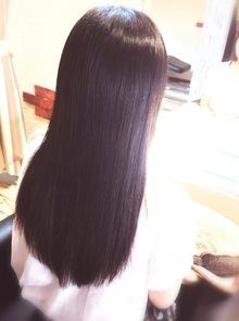 【西新の美容室リエット】暗髪×ストレート