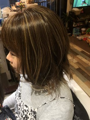 【西新の美容室リエット】ハイライトによる陰影カラーのサムネイル