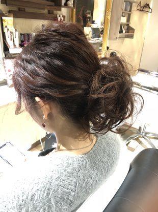 【西新の美容室リエット】波ウェーブからのまとめ髪のサムネイル