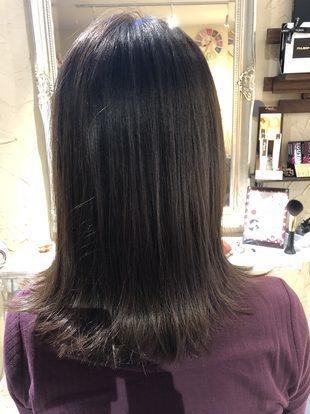 【西新の美容室リエット】縮毛矯正の髪にもできる切りっぱなしのサムネイル